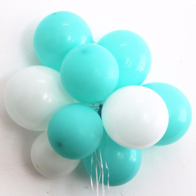 Tiffany Blue Balloons 20pc 10 Inch Thick 2 G Birthday Ballons Decorations Wedding