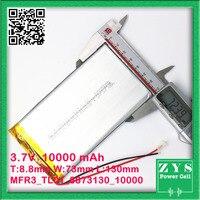 Ultra Slim 10000 mAh 3.7 v baterii do zasilania banku podwójny 5 V 2.4A wyjście zewnętrzna ładowarka do baterii USB uniwersalny  rozmiar: 8.8x73x130mm w Baterie i zasilanie do tabletów od Komputer i biuro na