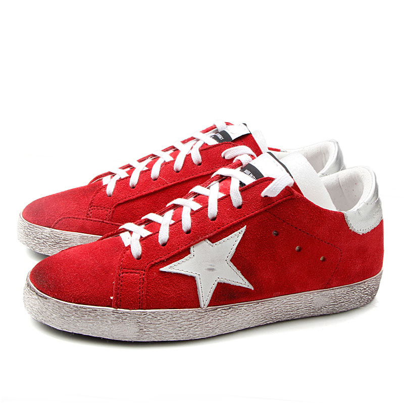 Hot Sale Fashion Do Old Dirty Shoes Women Genuine Cow Leather Red Color&White Super Star Lace Up zapatos de mujer Shoes Woman hot sale genuine leather shoes women soft comfortable lace up zapatos mujer high quality fashion oxfords pigskin women s shoes