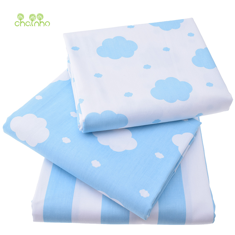Retë të shtypura pëlhurë pambuku Twill për Qepje Quilting Sky Blue Tissue Fabrikë të Fëmijëve Fëmijët e gjumit Fëmijët e gjumit Fustani i rrobave Material