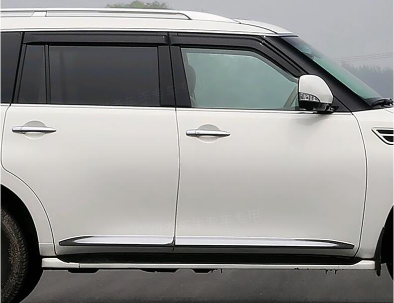 Автомобиль Боковая дверь кузова протектор литья Накладка для Nissan PATROL Y62 2011 2012 2013 2014 2015 2016 2017 Бесплатная по EMS