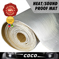 "2pcs 4""x40"" 10cmx100cm car Deadening Deadener FOIL Heat Insulation Proof Shield Mat Sound Control Proofing Aluminium Muffler PAD"