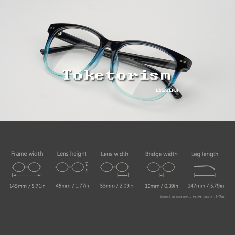 fee1070ac0 Toketorism stylish eyeglass frames gradient glasses fake women men optical  myopia glasses 1808-in Eyewear Frames from Apparel Accessories on  Aliexpress.com ...
