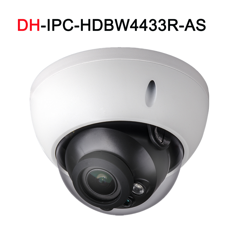 H.265 4MP IP camera IPC-HDBW4433R-AS support IK10 Audio and Alarm with POE port IP67 CCTV camera dahua 4mp cctv ip camera ipc hdbw4433r as support ik10 ip67 audio and alarm poe camera with ir range 30m