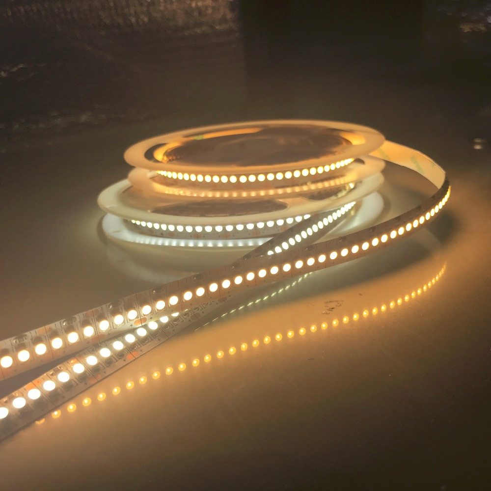 LED strip 4800Lm Super Bright 24V IP20 48W 93 6W 2835 LED Strip 240led Flexible stripe light ribbon 5M showcase led 4000K 3000K in LED Strips from Lights Lighting