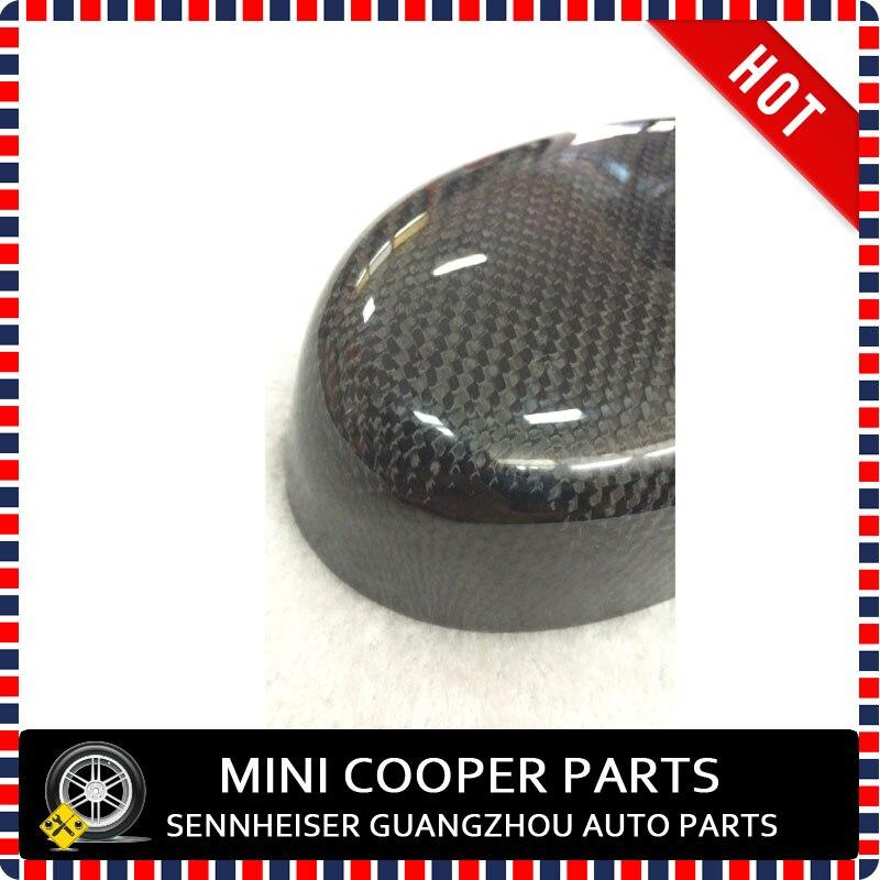 Brand new Real Углеродного Волокна стиль Черный Углерод Цвет внутреннее зеркало для mini cooper(1 Шт./компл