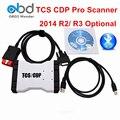 Azul Branco New VCI TCS CDP Pro OBD2 Diagnostic Scanner Nova CDP + Software 2014 R2 R3 Opcional Ativação Gratuita Para Carros e Caminhões