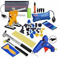Kit de pdr paintless dent remoção linha placa martelo com airbag ferramenta reparo danos do carro Conjuntos ferramenta manual Ferramenta -