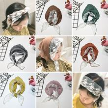 Kids Toddler Baby Girls Headband Headwrap Headpiece Scarf Turban Bandanna Kerchief Hijab Lace Floral