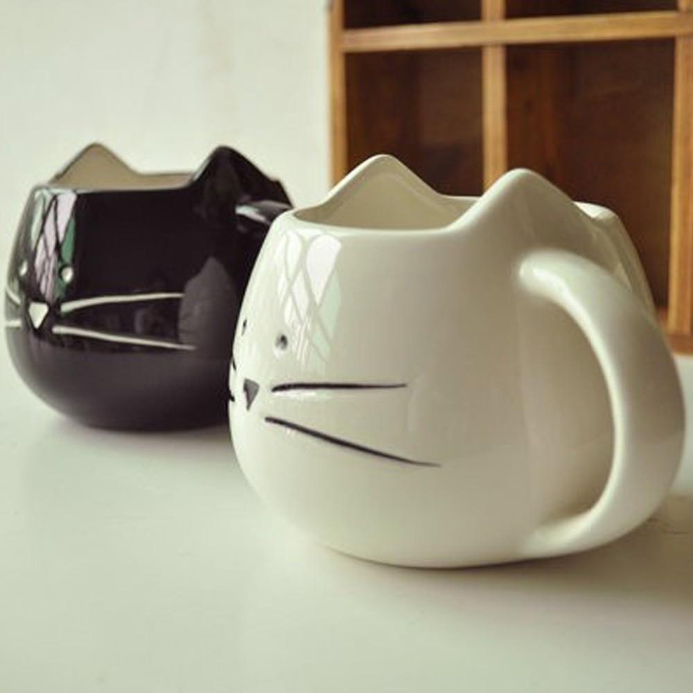 1Pcs Yeni KEYAMA Ağ Qara şirin kitti üslubda keramika səhər - Mətbəx, yemək otağı və barı - Fotoqrafiya 1
