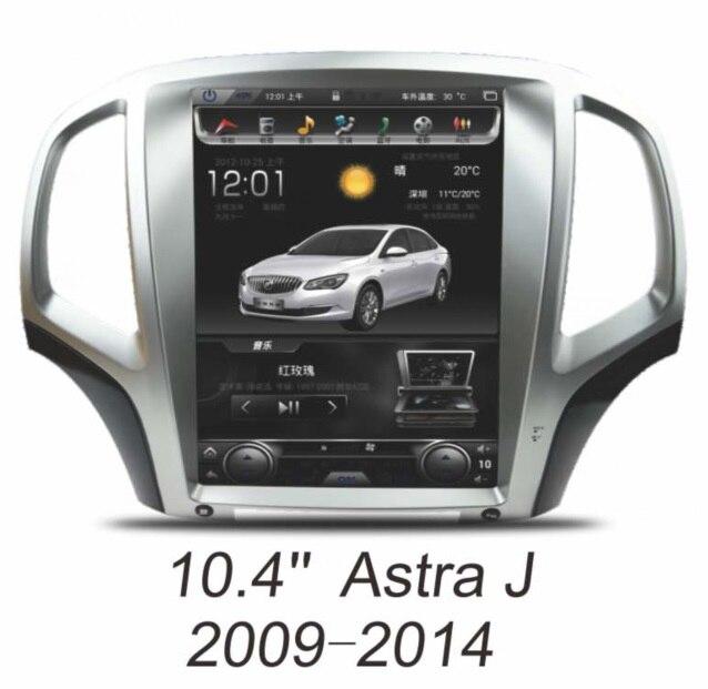 Otojeta вертикальный 6,0 дюймов Android Opel Astra dvd плеер автомобиля для 2009 J 2014 10,4 gps navi головного устройства авто радио стерео