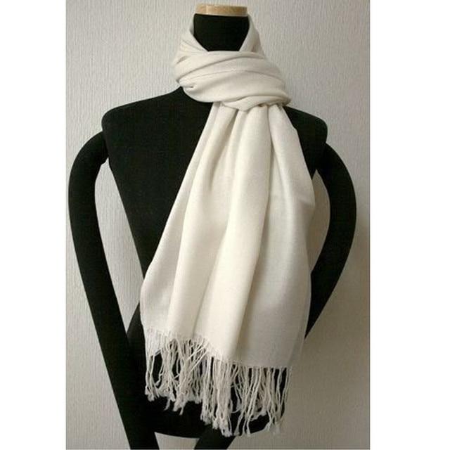 Fashion White New Spring Chinese Women's Silk Pashmina Shawl Scarf Wrap Scarves Free Shipping WS008-H