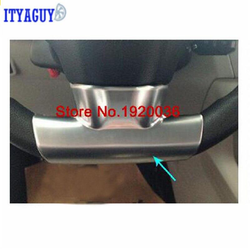 רכב סטיילינג כרום לקצץ הגה צלחת כיסוי עבור סיטרואן האליזה C3 2011 מדבקות פנים היגוי גלגל קישוט