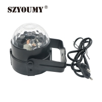 Mini RGB LED Crystal Magic Ball Stage Effect Lighting Lamp Bulb Party Disco Club DJ Light