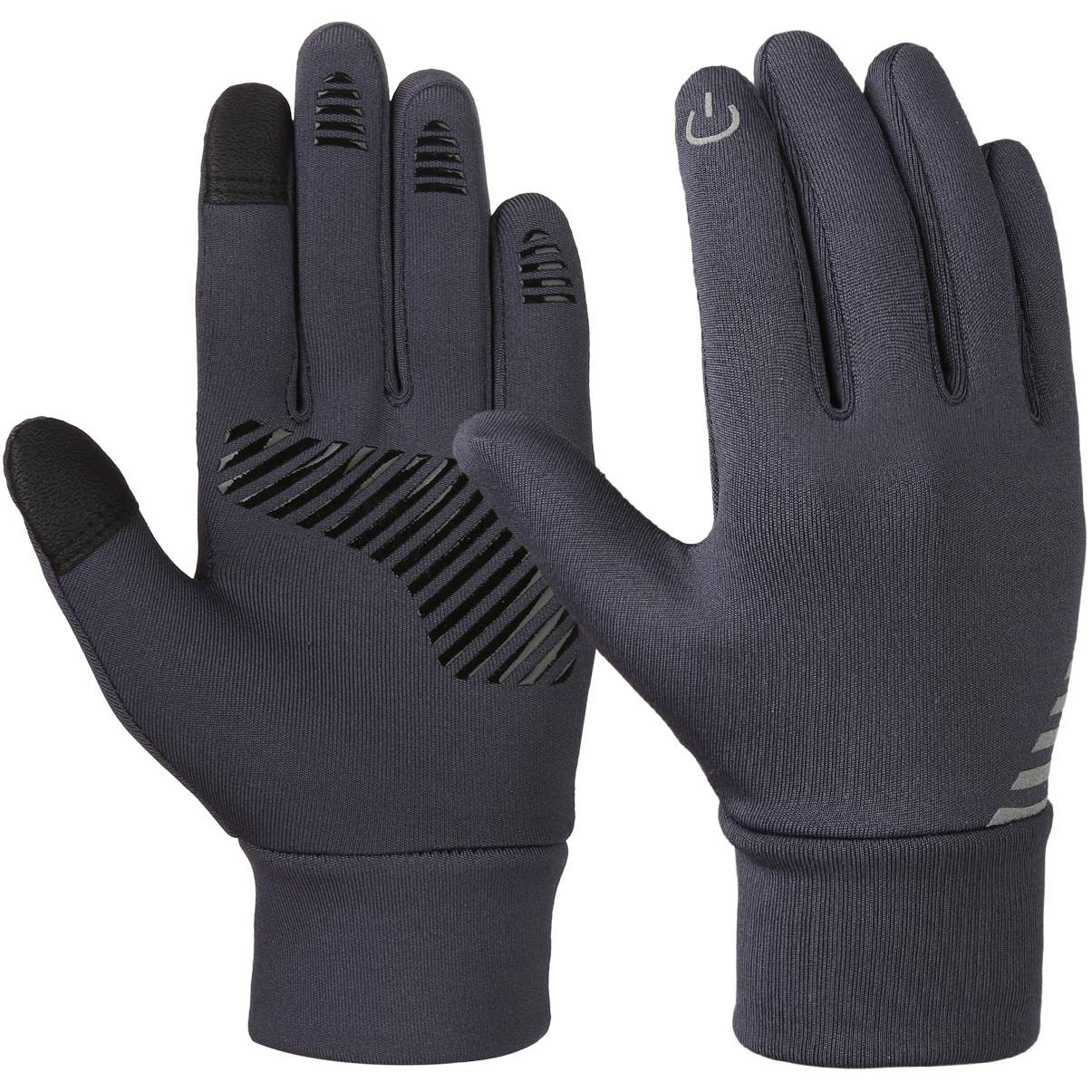 Vbiger Grey between 4-10 Years Old Kids Winter Cold Weather Gloves Anti-skid Touch Screen Gloves Soft Outdoor Sports Gloves
