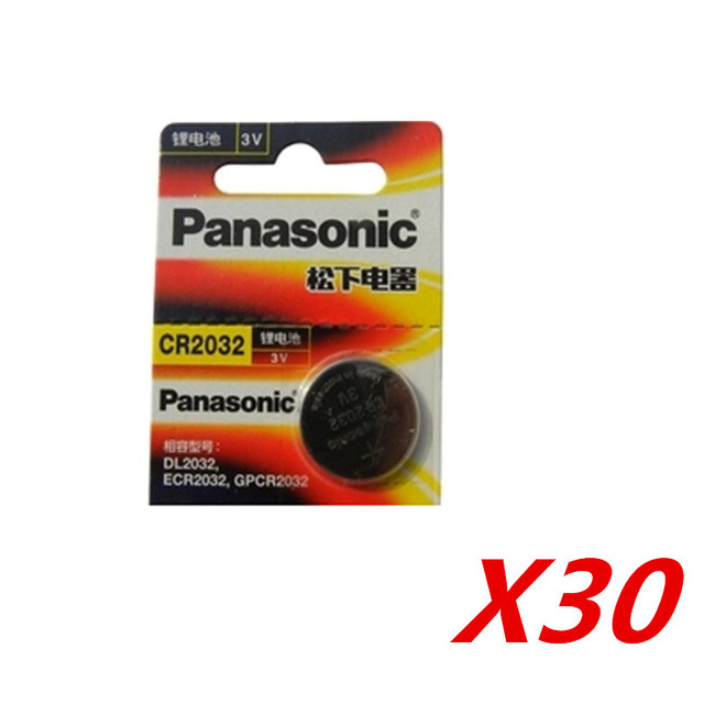 30 X original brand new battery for PANASONIC cr2032 3v button cell coin batteries for watch computer cr 2032-in Button Cell Batteries from ...