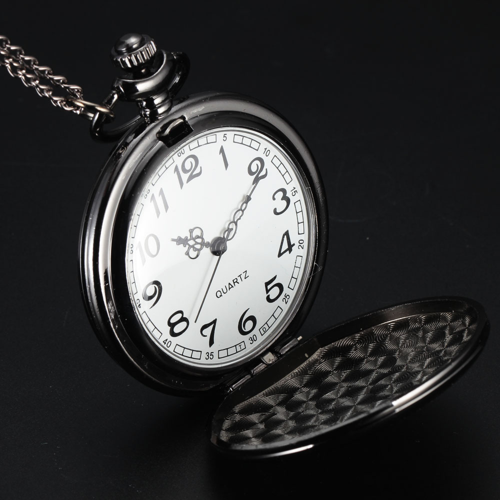 Steampunk pocket watch  Aliexpress.com : Buy Black Smooth Steampunk Pocket Watch Stainless ...