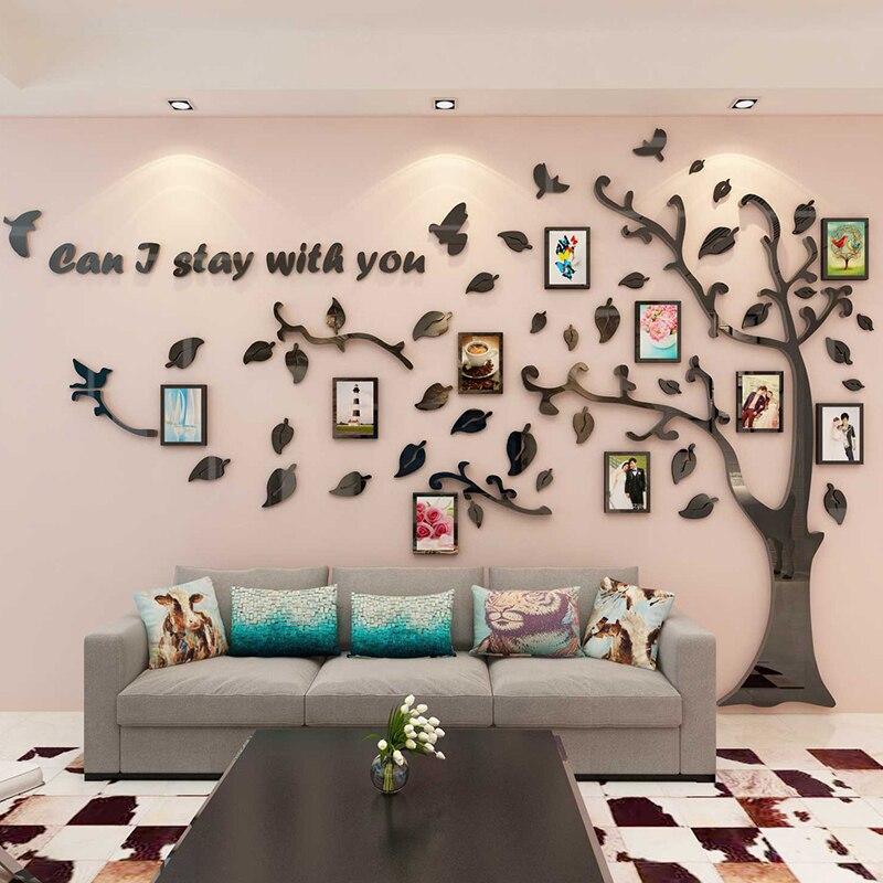Креативная большая елка, акриловая 3D Наклейка на стену, диван для гостиной, фон, украшение стены, фоторамка, наклейка на стену - 3