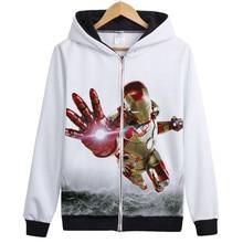 Anime Marvel Avengers Hoodies Iron Man Hulk Captain America