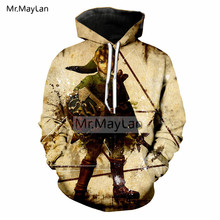 Vintage 3D Print Game The Legend of Zelda Jacket Men/women Hip Hop Streetwear Sweatshirts Mens Designer Hoodies Big Size 5XL 6XL