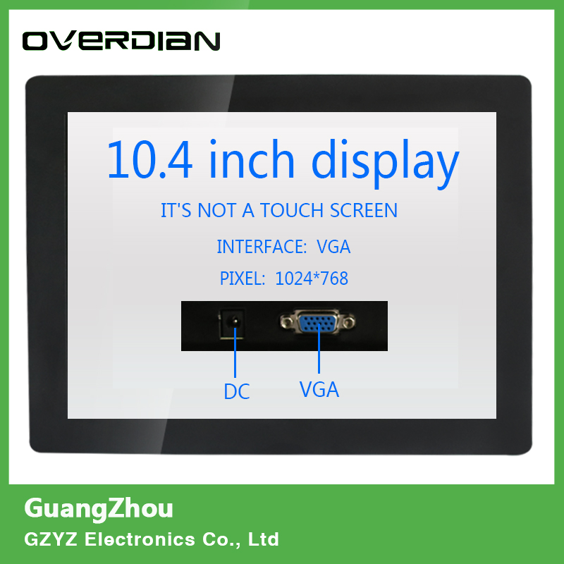 10.4/10 VGA Interface Non-Touch Industrial Control LCD Monitor/Display 1024*768 Metal Shell Buckle Card Installation 4:3 8 8 4 inch vga dvi interface non touch industrial control lcd monitor display metal shell buckle card installation 4 3