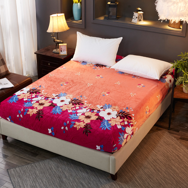 Colorful Flower Bedspread Good Quality Bed Sheet Simple Style Ed Soft With Elastic Band S Well Mattress Cover