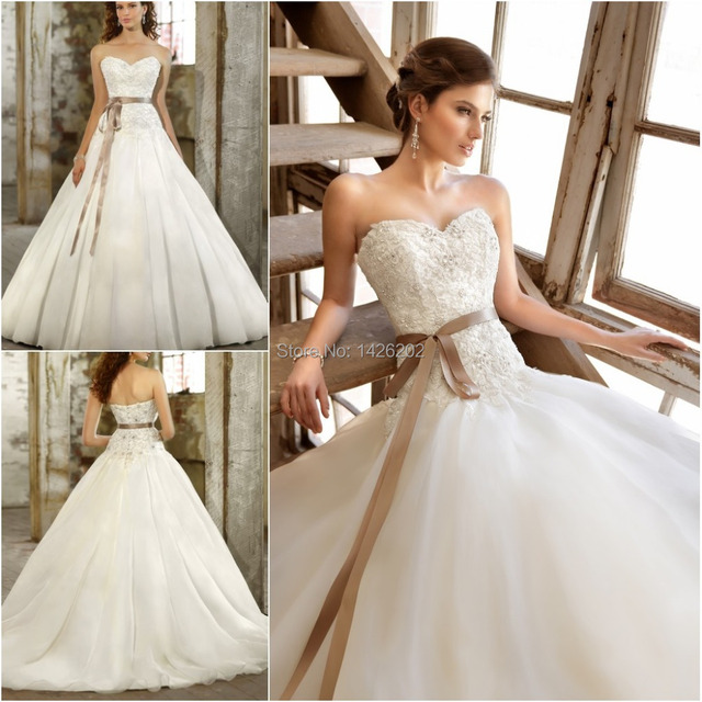 Elegant Princess Cut Wedding Dresses China Ball Gown Sleeveless Long ...