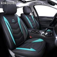 Fundas de cuero PU para asiento de coche, alta calidad, compatible con volkswagen vw passat b5 b6 polo golf tiguan 5 6 7 jetta touran touareg, estilo adhesivo