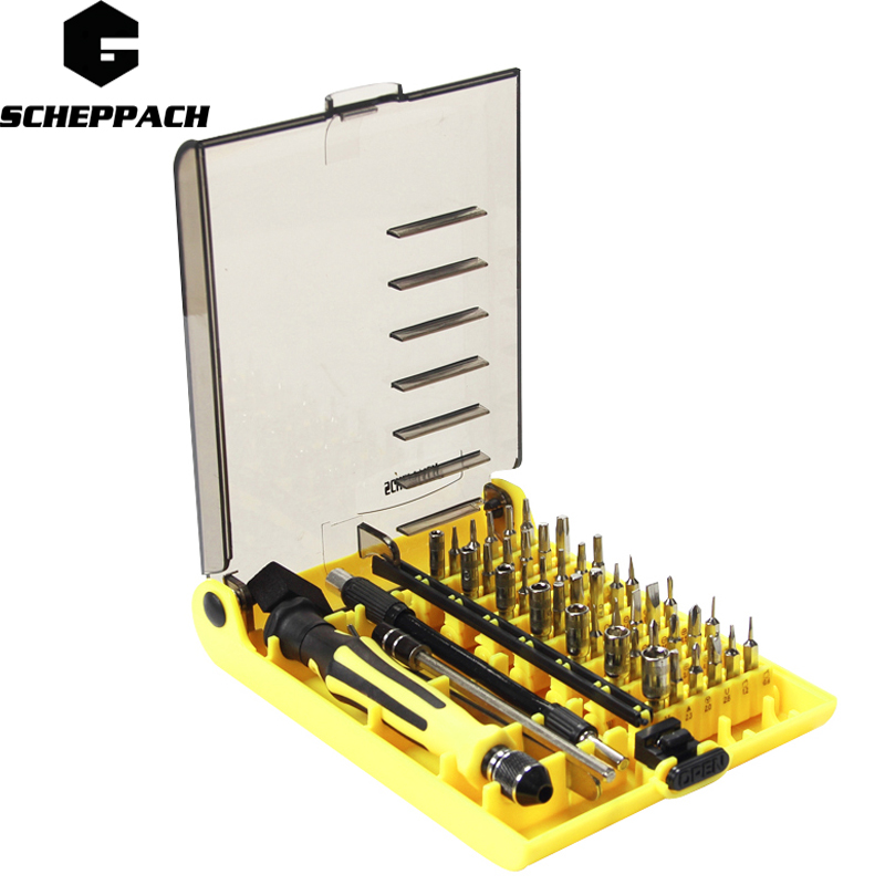 цена на SCHEPPACH 45in1 Multi-purpose Precision Magnetic Hand Screwdriver Set  Household Hand Tool Set for Phone PC Repair Kit Iphone