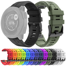 ساعة يد من Garmin Fenix 5 مصنوعة من السيليكون مزودة بشريط لغريزة Garmin حزام بديل للمعصم