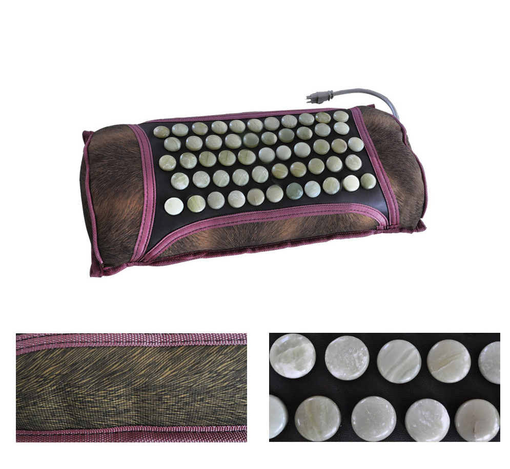 Nature Jade Stone Pillow Neck Health Care Magnetic Pillow
