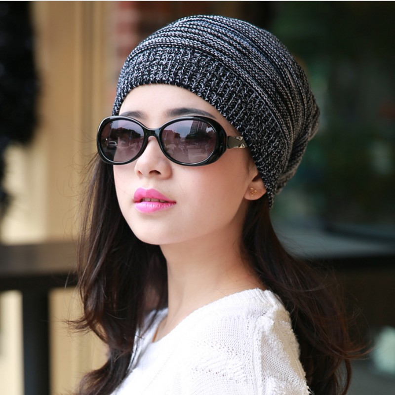f9b79c4cd27 women knitting beanie hat knit hat cable knit cap Hand Knit Slouchy Beanie  Hat Acrylic blend-in Skullies   Beanies from Apparel Accessories on ...