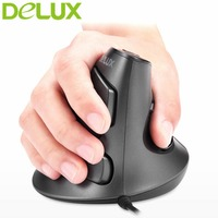 Delux M618 Usb Mouse Optical Wired Ergonomic Vertical Mouse 6 Buttons 800 1600 2400DPI Optical Mice