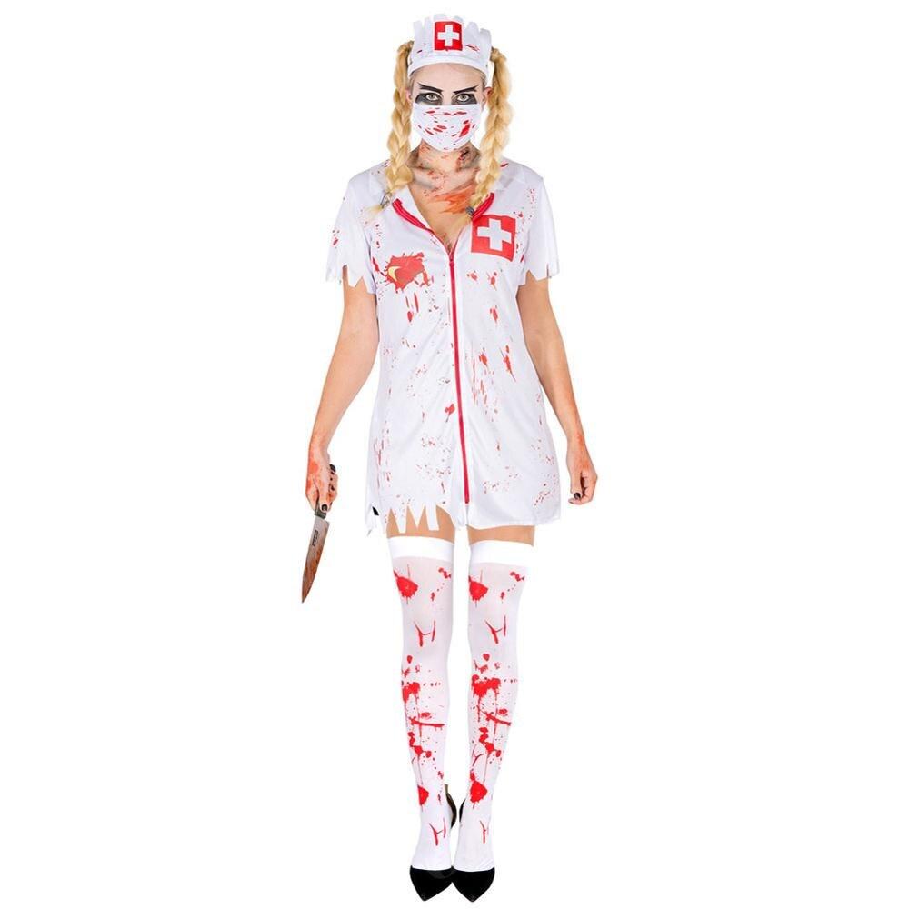 Ourwarm Halloween Knee High Skeleton Socks Gloves Bloody Socks Costume Decor