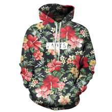 3D Flower Wolf Printing Couple Hoodies Women Long-sleeved Pullovers Hoodies Sweatshirts Femme Hooded Clothing(China)