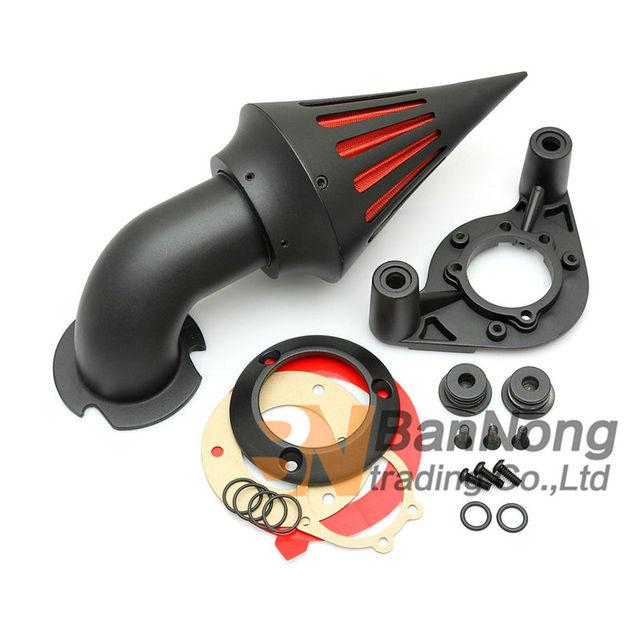 Envío libre Motocicleta Modificada Pico Filtro Aire Adapta Para Harley Sportster XL 1200 883 XLH1200