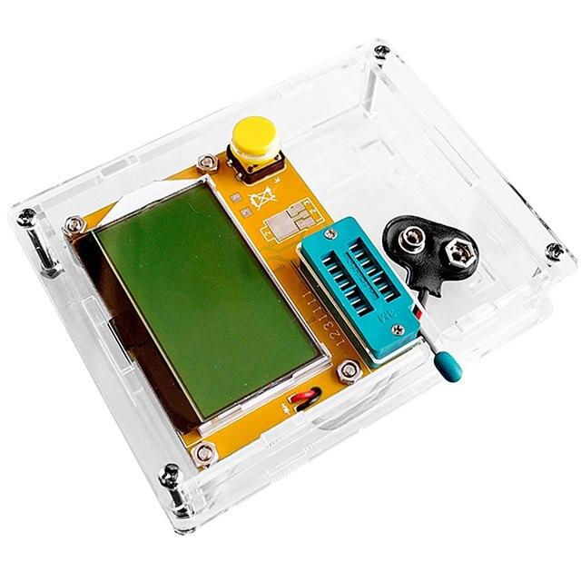 LCD Digital Transistor Tester Meter LCR-T4 Backlight Diode Triode Capacitance ESR Meter For MOSFET/JFET/PNP/NPN L/C/R 1