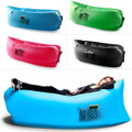 Inflatable Lounge Portable Dream Chair Air Sofa Bag with Pocket Outdoor Beach Camping Sleeping Lazy Bed Black