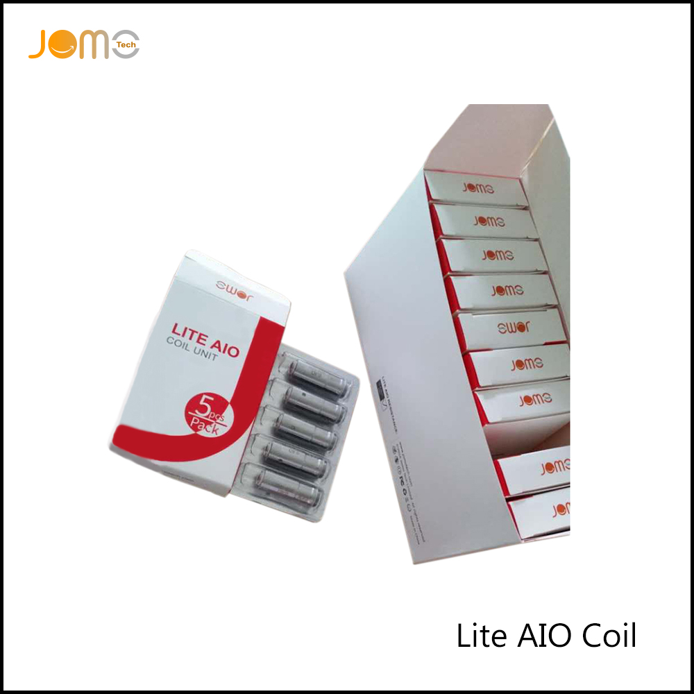 5pcs/pack Jomotech Lite AIO Evaporator Electronic Cigarette Atomizer Core Replacement Coils 0.4ohm Lite AIO Coil Jomo-C13
