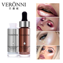 VERONNI Face Cosmetics Easy to Wear Long Lasting Brighten Oil control 15ml 6 Colors Liquid Highlighter Bronzers