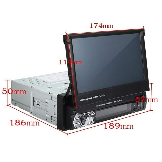 US $62 21 37% OFF Podofo Car Audio Audio Radio Bluetooth 1DIN 7