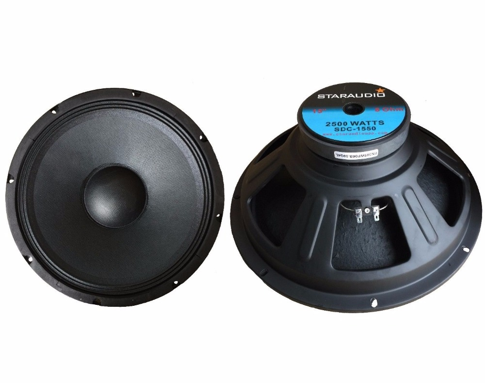 "STARAUDIO 2Pcs Pro DJ PA 2500W 15"" Raw Speaker Subwoofers 8 Ohm Magnet Sub Woofer Bass 51oz Magnet SDC-1550"