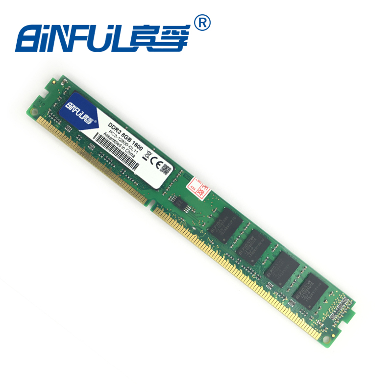 Binful original New Brand DDR3 PC3-12800 8GB 1600mhz for Desktop RAM Memory 240pin compatible with  Desktop for Intel and AMD