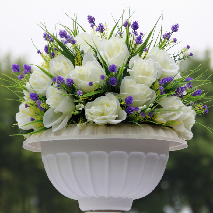 white wedding decoration party flower bouquets for road lead or ...