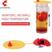 Fish Shape Tea Infuser With Lid Silicone Strainers Tea Strainer Spice Herbal Infusor Filter Empty Tea