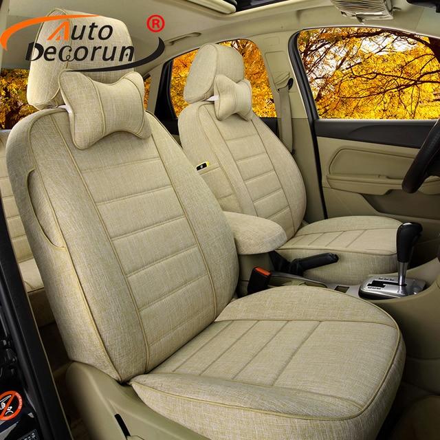 AutoDecorun Flax Custom Fit Covers Car Seats for Jaguar XJ ...