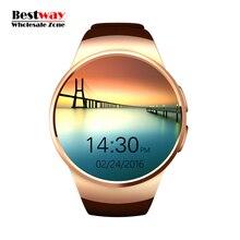 Dhl-freies Verschiffen 20 teile/los Großhandel KW18 Reloj Inteligente Pulsmesser Uhr Smartwatch Android Orologio Bluetooth SIM