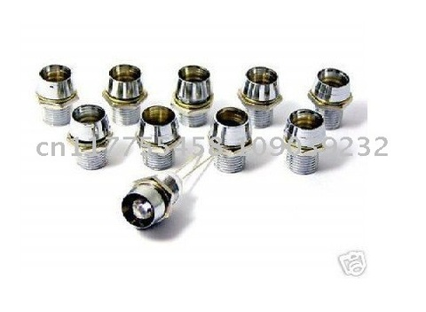 Suporte de Metal Montagem do Painel Suportes para Diodos Pces Leds Montagem Titular – Cromado Moldura Clipe 100 3mm Led