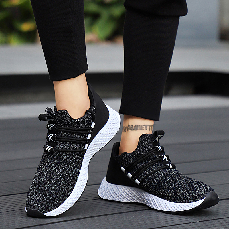 HTB1G EWXcnrK1RjSspkq6yuvXXaB Male Breathable Comfortable Casual Shoes Fashion Men Canvas Shoes Lace up Wear-resistant Men Sneakers zapatillas deportiva