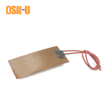 0.15-0.3mm thickness Polyimide Film Heater 24V Flexible Electric Heating Element Anti-freezing Heater Band for Machinery